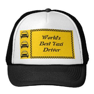 Weltbester Taxi-Fahrer-Schachbrett-Hut Retromütze
