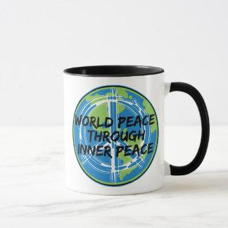 Weltfrieden durch inneren Frieden Tasse
