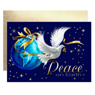Weltfrieden. Korporative flache Weihnachtskarten Karte