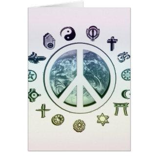 Weltfrieden Mitteilungskarte