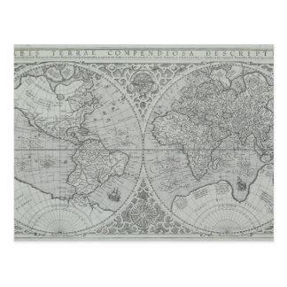 Weltkarte 10 postkarte