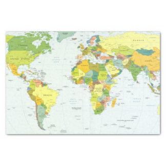 Weltkarte-Kugel-Atlas-Länder Seidenpapier