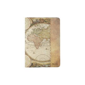 Weltkarte Passhülle