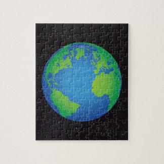 Weltkugel-Karten-sternenklarer Himmel Puzzle