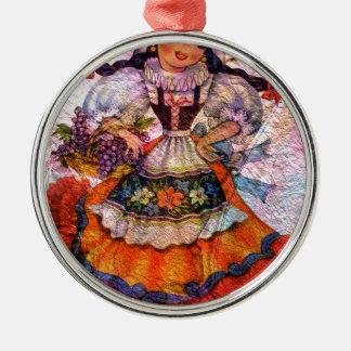 WELTpuppe SPANIEN 2 Silbernes Ornament