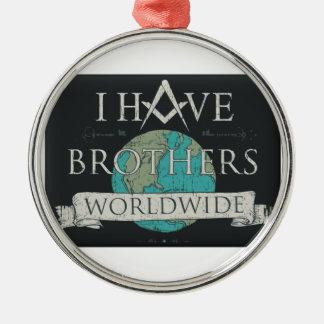 Weltweite Bruderschaft Rundes Silberfarbenes Ornament