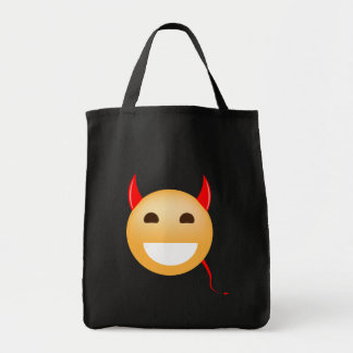 Wenig Emoji Teufel Einkaufstasche