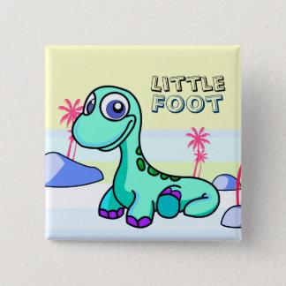 Wenig Fuß-Dinosaurier Pinback Knopf Quadratischer Button 5,1 Cm