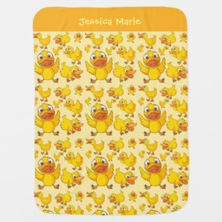 Wenig gelbe Duckies Baby-Decke Babydecke