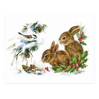 Wenig Häschen-Weihnachten Postkarte