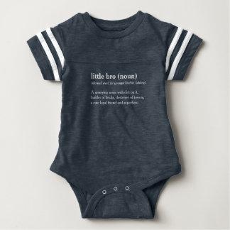 wenig kundenspezifisches Textbaby bro Definition Baby Strampler