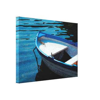 Wenig weißes Boot Leinwanddruck