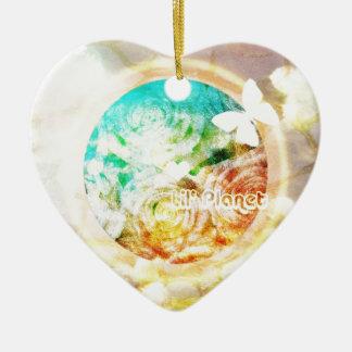 Wenig Welt Keramik Herz-Ornament