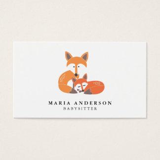 Wenige Fox-Babysitter-Visitenkarten Visitenkarte