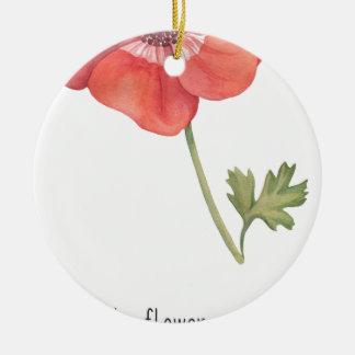 Wenn ich eine Blume hatte Rundes Keramik Ornament