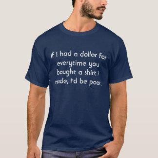 Wenn ich einen Dollar für jedes Mal hatte, kauften T-Shirt