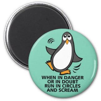 Wenn in der Gefahr oder Zweifels-in der lustigen Runder Magnet 5,1 Cm