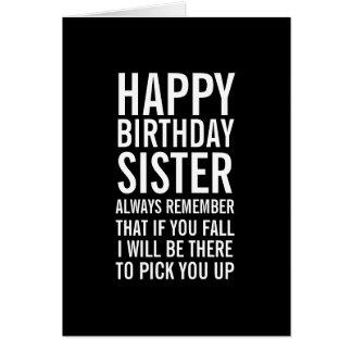 Wenn Sie Fall-Schwester-lustige alles- Gute zum Grußkarten
