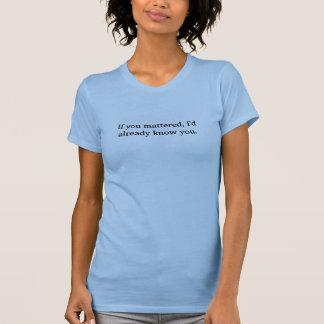 Wenn Sie von Bedeutung waren, würde ich Sie T-Shirt