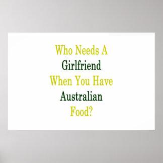 Wer eine Freundin benötigt, wenn Sie australische Poster