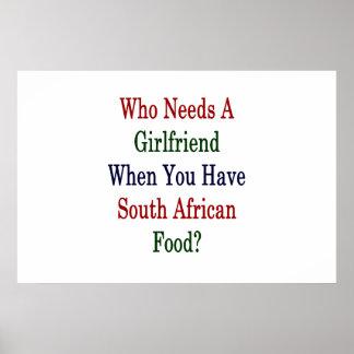 Wer eine Freundin benötigt, wenn Sie Poster