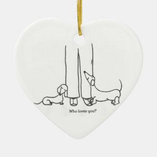 Wer Lieben Sie? Verzierung Keramik Herz-Ornament