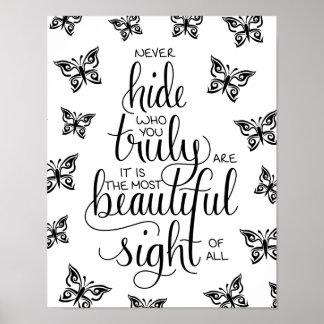Wer Sie schön sind, Schmetterlings-Plakat Poster