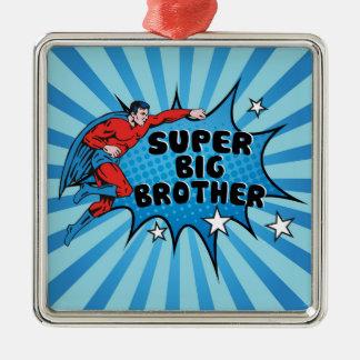 Werdener Superheld ein großer Bruder Silbernes Ornament