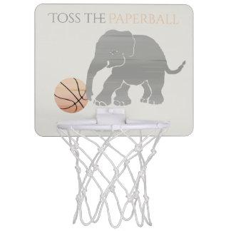 Werfen Sie den Paperball Elefanten, der Basketball Mini Basketball Ring