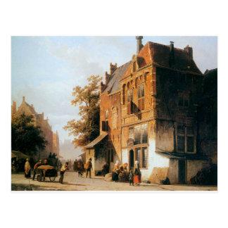 Westermarket in Amsterdam durch Cornelis-Springer Postkarte