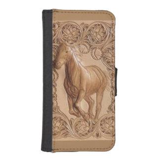 Western bearbeitetes ledernes Vintages Pferd iPhone 5 Portmonnaies