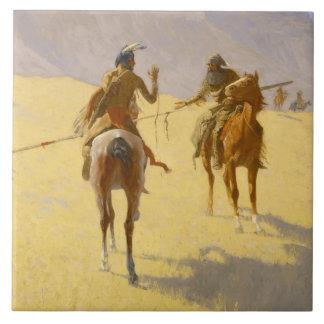 """Western-Kunst Frederic Remington """"die Keramikfliese"""