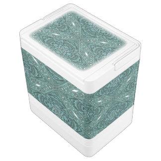 Western-Landmode aquamarines Türkis-Leder Kühlbox