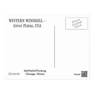 Western-Windmühle Postkarte