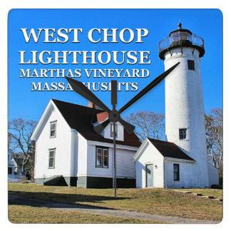 Westhieb-Leuchtturm, Marthas Weinberg MA-Uhr Quadratische Wanduhr