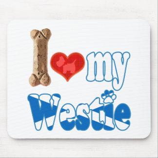 Westie I Liebe mein Westie Mousepad