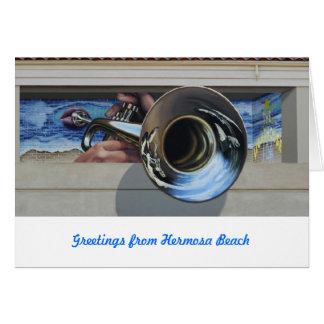 Westküsten-Jazz Gruß   Cards~ Wandgemälde#3 Karte