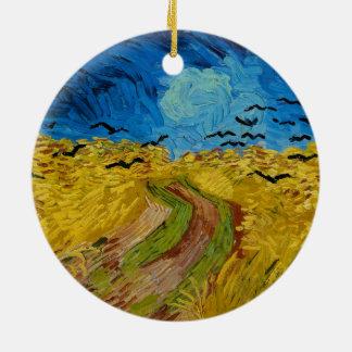 Wheatfield mit Krähen durch Vincent van Gogh Keramik Ornament