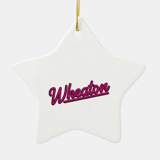 Wheaton Neonlicht in der Magenta Keramik Ornament