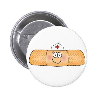 Whimsicla Pflaster-Verband mit dem Krankenschweste Runder Button 5,7 Cm