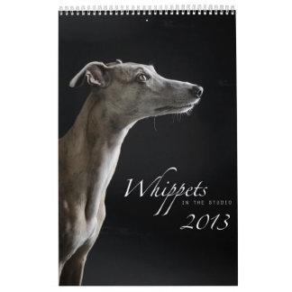 Whippets im Studio 2013 Abreißkalender
