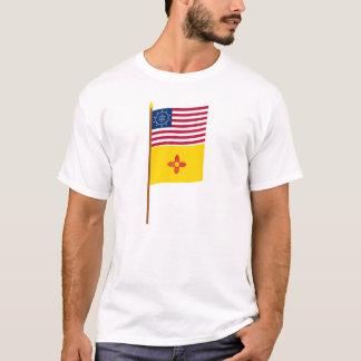 Whipple Stern US 48 Flagge auf Pfosten mit New T-Shirt
