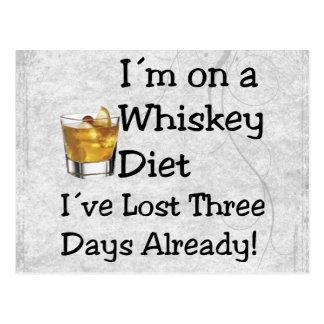 Whisky-Diät Postkarte