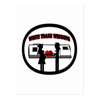 White Trash-Hochzeit Postkarte