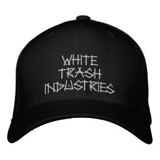 White Trash-Industrie-Unterzeichnungs-Logo-Hut Bestickte Kappe