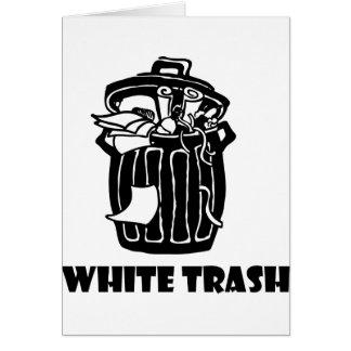 White Trash-Mülleimer Karte