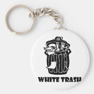 White Trash-Mülleimer Schlüsselanhänger