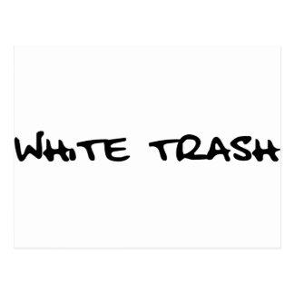 White Trash Postkarte