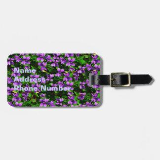 Wi-Staats-Blumen-hölzernes Veilchen-Mosaik Gepäck Anhänger