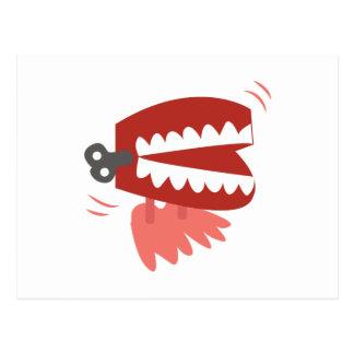 Wickeln Sie oben Zähne Postkarte
